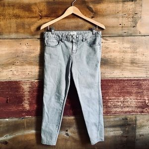 Free People grey cropped jeans